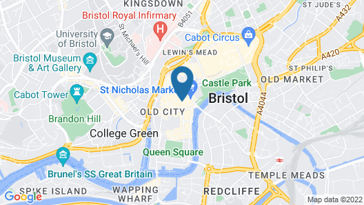 Brooks Guesthouse Bristol Map
