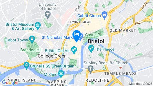 Brooks Guesthouse Bristol Map