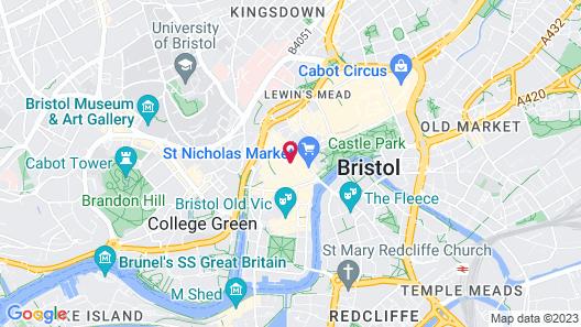 Bristol Harbour Hotel & Spa Map