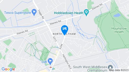 Revive Lodge Heathrow Map