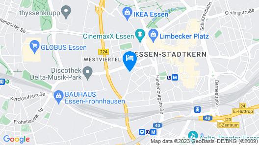 Flowers Hotel Essen Map