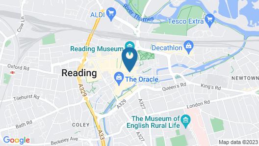 Mercure George Hotel Reading Map