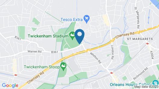 London Marriott Hotel Twickenham Map