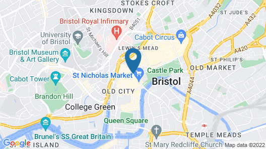 Mercure Bristol Grand Hotel Map