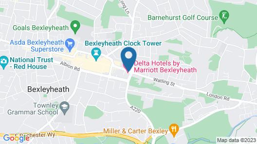 Bexleyheath Marriott Hotel Map