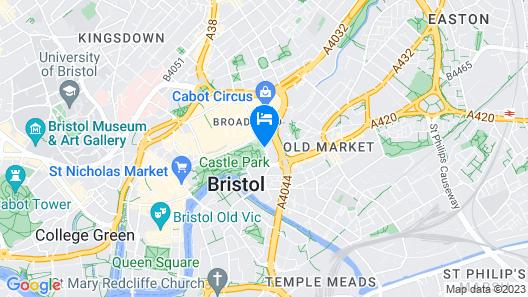 Bristol Marriott Hotel City Centre Map
