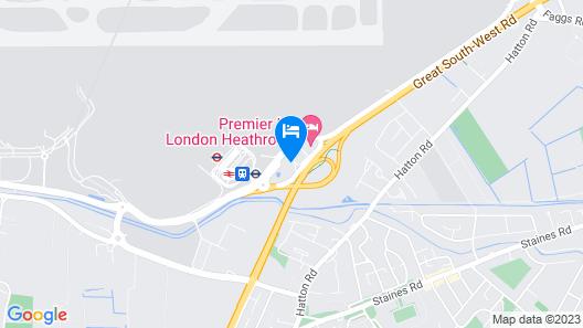 Hilton London Heathrow Airport Hotel Map