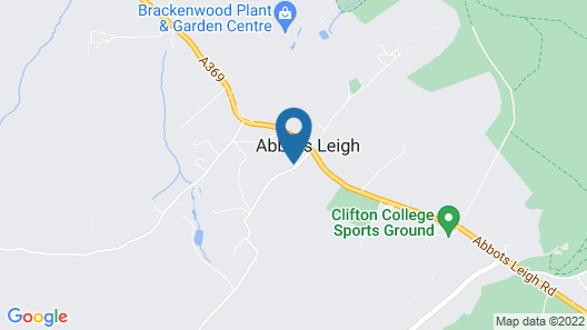 THE PRIORY CELLARS ABBOTS LEIGH Map
