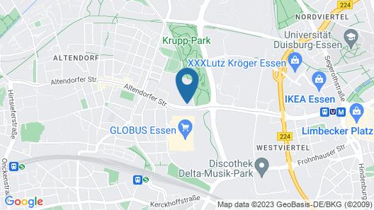 McDreams Hotel Essen-City Map