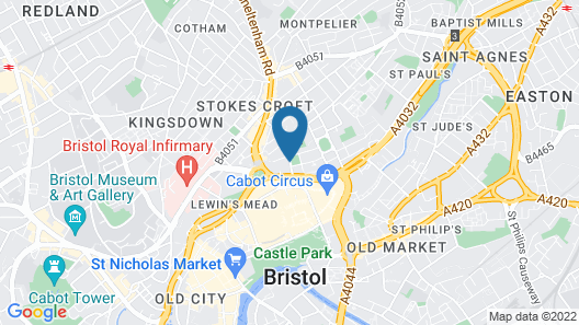 Hampton by Hilton Bristol City Centre Map