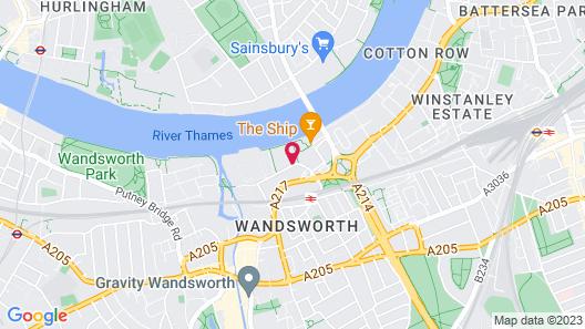 Holiday Inn Express London Wandsworth Map