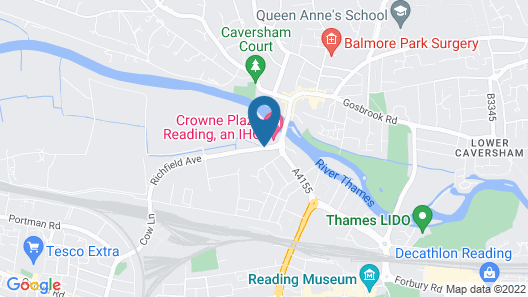 Crowne Plaza Reading Map