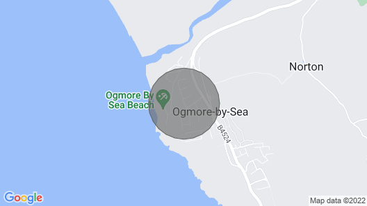 A Detached Bungalow in a Stunning Position Right on the Shore at Ogmore-by-sea, With sea Views and c Map