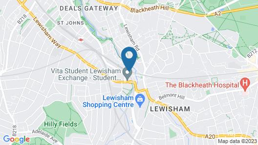 Via Lewisham - Hostel Map