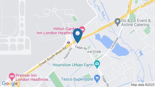 Atrium Hotel Heathrow Map