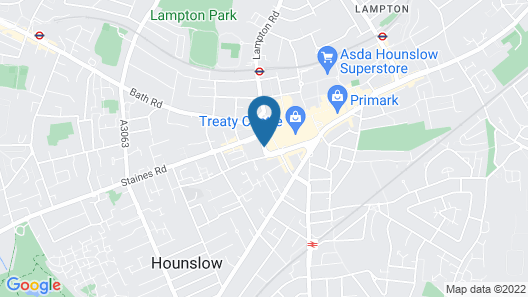 ibis budget London Hounslow Map