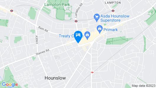 ibis budget London Hounslow Map