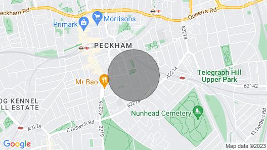 Modern 3 Bedroom House With Garden in Peckham Map