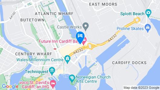 Future Inns Cardiff Bay Map
