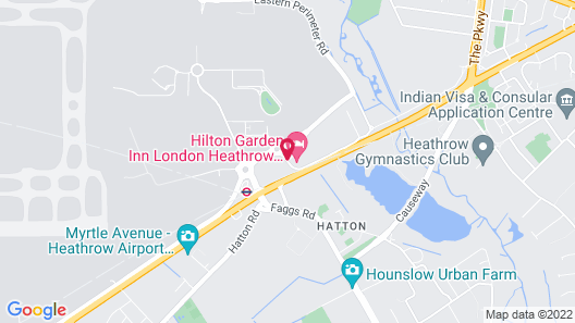 Hilton Garden Inn London Heathrow Airport Map