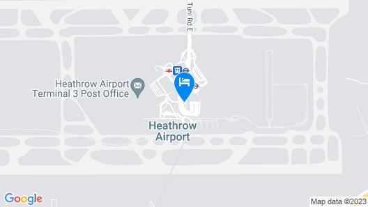 Hilton Garden Inn London Heathrow Terminal 2 and 3 Map