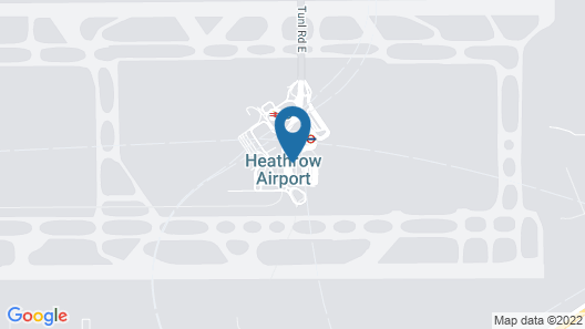Hilton Garden Inn London Heathrow Terminal 2 and 3 Map