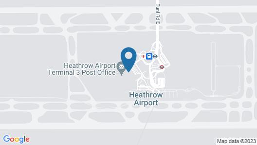 Aerotel London Heathrow T2 & T3 Map