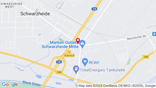 ACHAT Hotel Schwarzheide Lausitz Map
