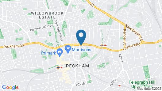 Peckham Rooms Hotel Map