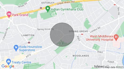 Modern 3BD House Near Heathrow and Tube Station Map