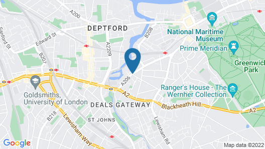 Staycity Aparthotels Greenwich High Road Map
