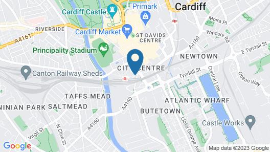 Sleeperz Hotel Cardiff Map