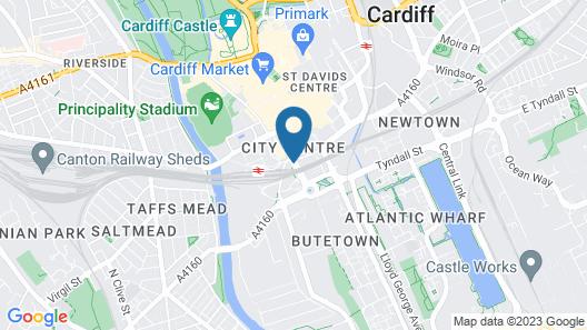 Clayton Hotel Cardiff Map