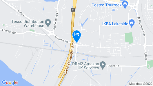 ibis London Thurrock M25 Map