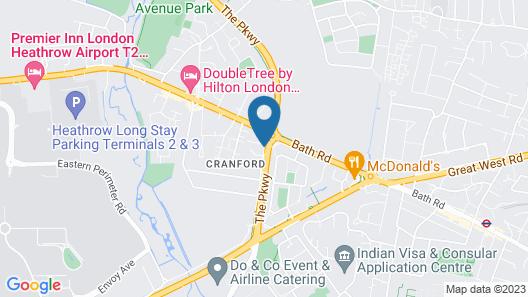 Heathrow Traveller B&B Map