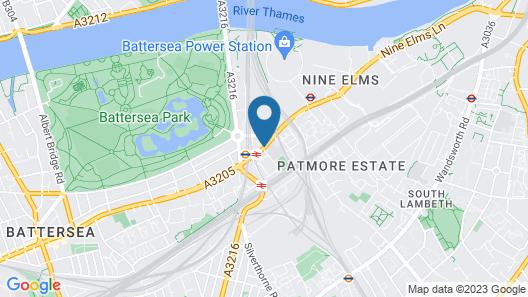 Platinum Apartments Battersea Park Map