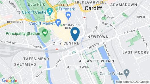 Radisson Blu Hotel Cardiff Map