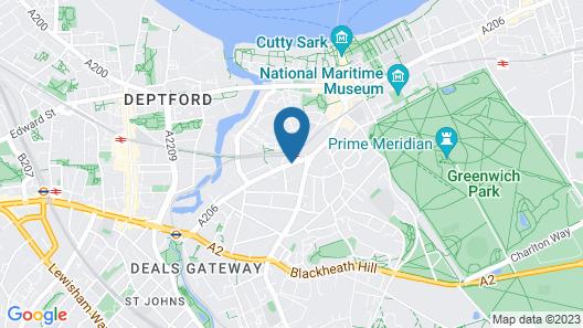 Novotel London Greenwich Map