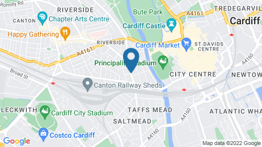 OYO Flagship Cardiff Central Map