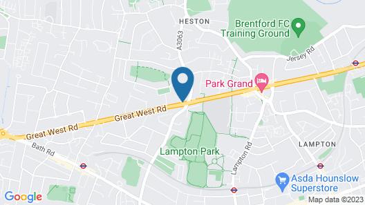 IBIS STYLES London Heathrow East Map