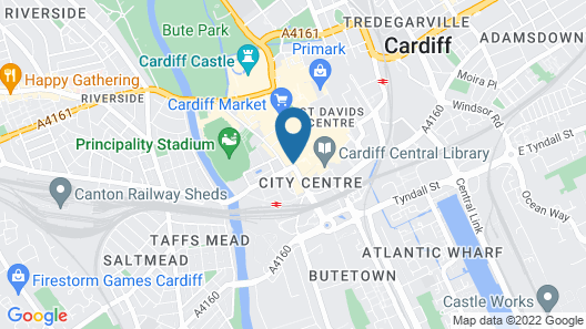 The Royal Hotel Cardiff Map