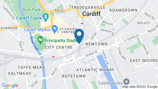 Citrus Hotel Cardiff by Compass Hospitality Map