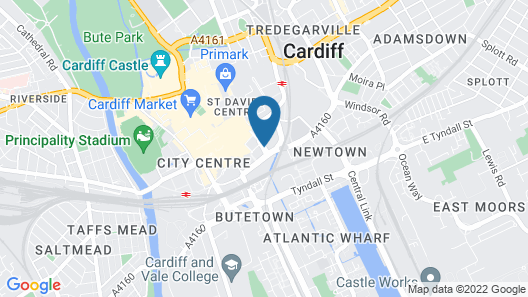 Park Inn by Radisson Cardiff City Centre Map