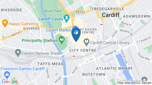 Bunkhouse Cardiff Map