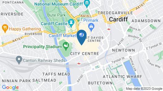 Cardiff Sandringham Hotel Map