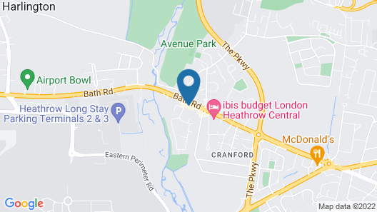 London Heathrow Serviced Apt - Bath Road Map