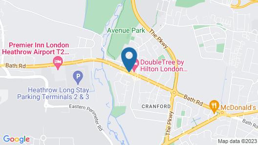 OYO VII Hotel & Indian Restaurant Map