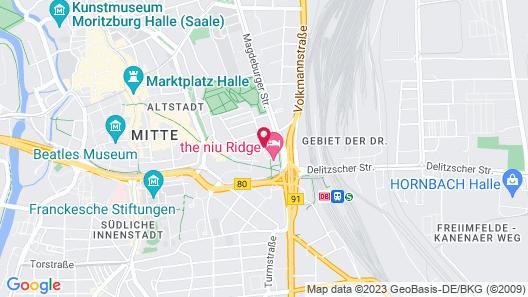 Dorint Charlottenhof Halle (Saale) Map