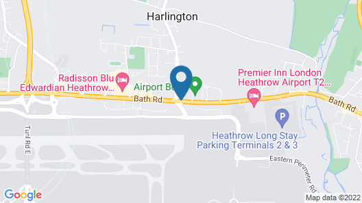 Best Western London Heathrow Ariel Hotel Map