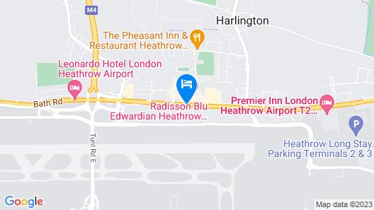 Radisson Blu Edwardian Heathrow Hotel Map